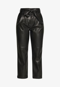 Warehouse - BELTED TROUSER - Spodnie materiałowe - black - 3