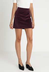 Warehouse - SKIRT - A-Linien-Rock - berry - 0