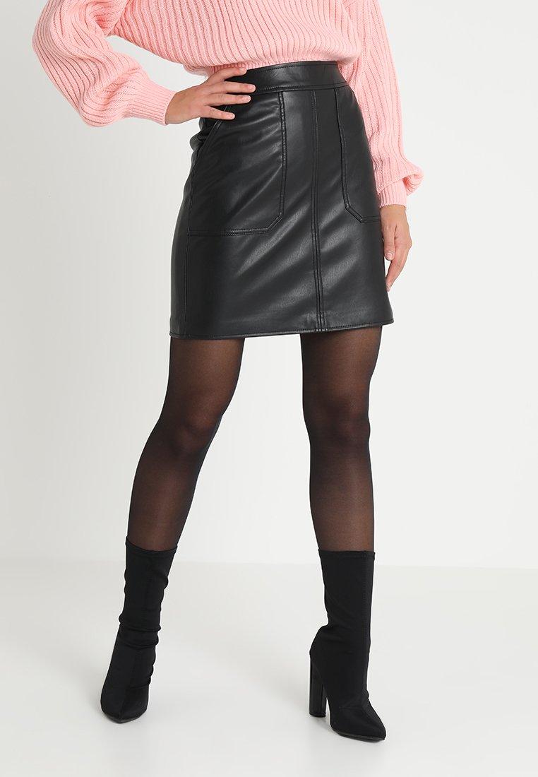 Warehouse - SKIRT - Mini skirt - black