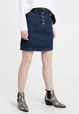 D-RING BELTED SKIRT - A-snit nederdel/ A-formede nederdele - dark wash