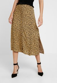 Warehouse - LITTLE LEOPARD MIDI SKIRT - A-line skirt - neutral - 0