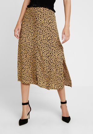 LITTLE LEOPARD MIDI SKIRT - A-line skirt - neutral