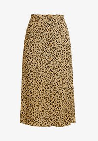 Warehouse - LITTLE LEOPARD MIDI SKIRT - A-line skirt - neutral - 4