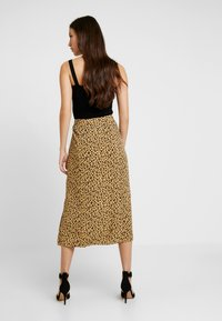 Warehouse - LITTLE LEOPARD MIDI SKIRT - A-line skirt - neutral