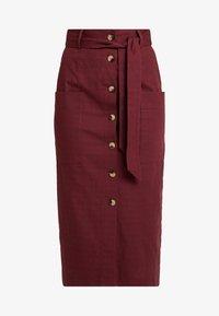 Warehouse - PENCIL SKIRT - Falda de tubo - burgundy - 3