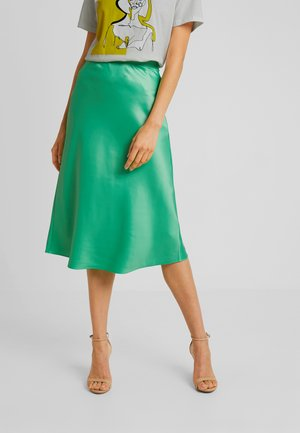 BIAS CUT MIDI SKIRT - Áčková sukně - green
