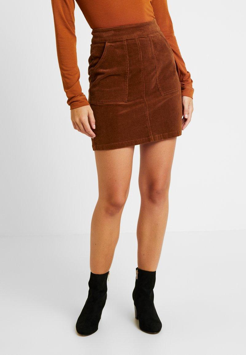 Warehouse - SKIRT CORD - Mini skirts  - tan