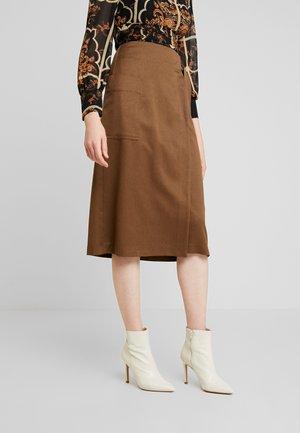 UTILITY WRAP SKIRT - A-line skirt - khaki