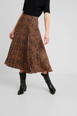 SPOT MIDI SKIRT - A-line skirt - tan