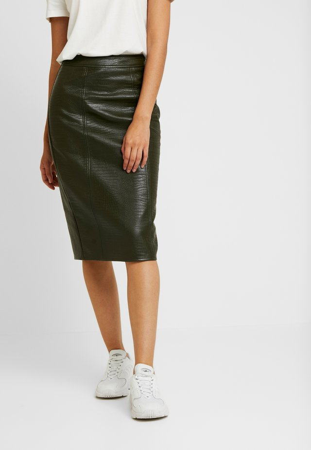 CROC PENCIL SKIRT - Bleistiftrock - khaki