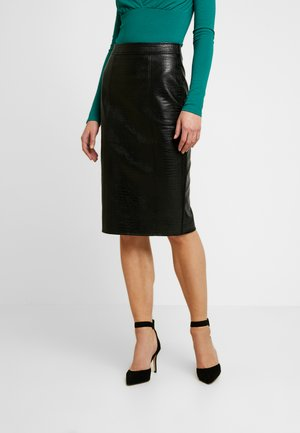 CROC PENCIL SKIRT - Pencil skirt - black
