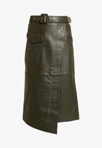 Warehouse - BELTED SKIRT - A-line skirt - khaki - 3
