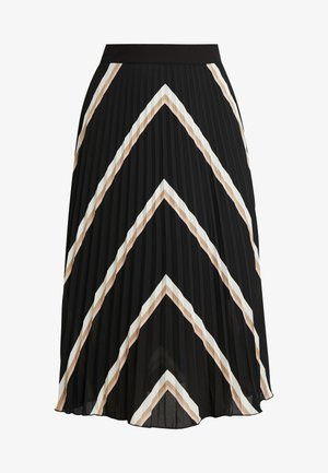 PLEATED MIDI SKIRT - A-line skjørt - black