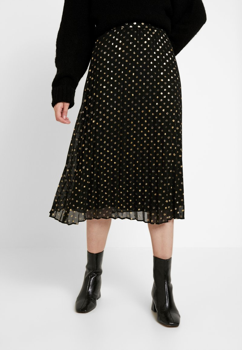 Warehouse - PLEATED MIDI SKIRT - Gonna a campana - gold