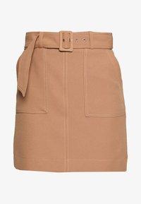 Warehouse - CONTRAST STITCH PELMET SKIRT - A-line skirt - camel - 3