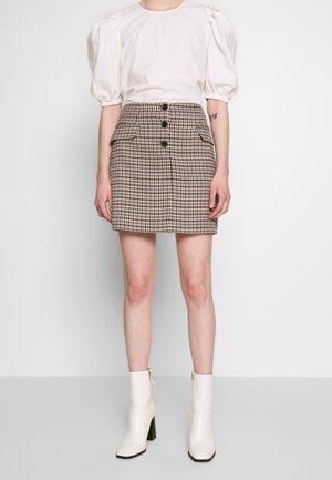 DOGSTOOTH POCKET PELMET - Mini skirt - multi