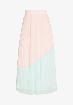 COLOURBLOCK PLEATED MIDI SKIRT - Jupe trapèze - mint/pink