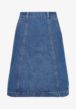 SEAMED KNEE LENGTH SKIRT - Pencil skirt - mid wash