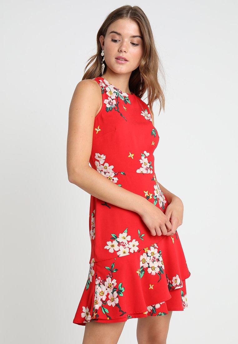 Warehouse - BLOSSOM PRINT DRESS - Day dress - red