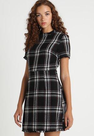 RUBY CHECK DRESS - Vestido informal - black/white/red