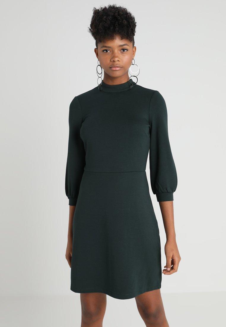 Warehouse - LONG SLEEVE PONTE DRESS - Jerseykleid - dark green