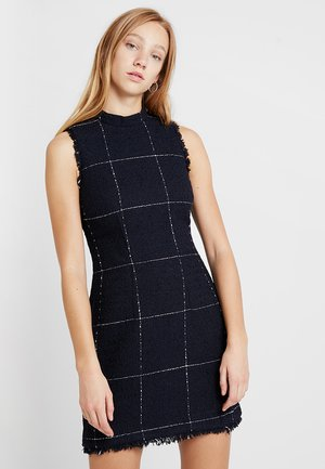 WINDOWPANE CHECK SHIFT - Shift dress - navy