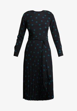 MIXED SPOT PLEATED DRESS - Hverdagskjoler - black/green