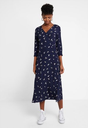 VERITY DITSY FLORAL WRAP DRESS - Maxikjole - navy