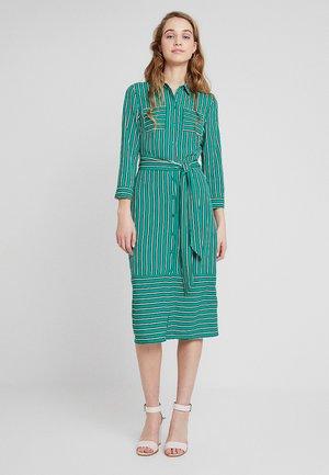 STRIPE UTILITY DRESS - Košilové šaty - green