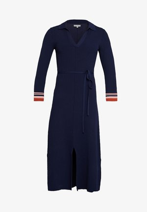 COLLAR MIDI DRESS - Maxiklänning - navy