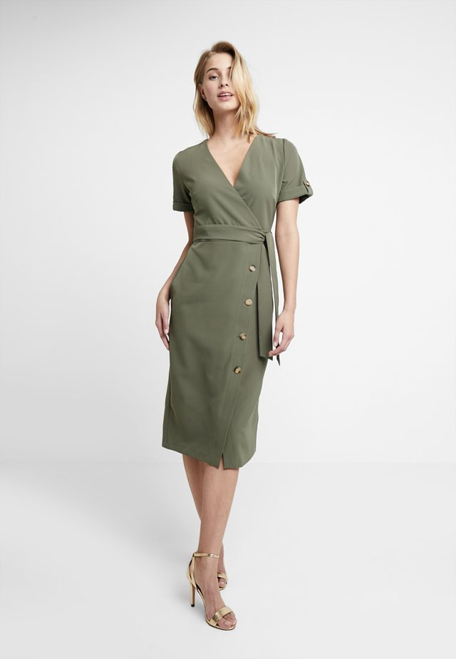 PLAIN WIGGLE DRESS - Blusenkleid - khaki