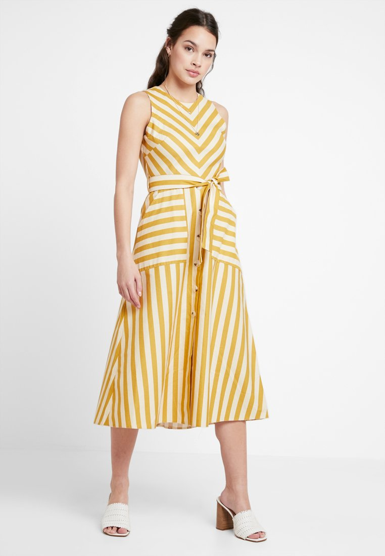 Warehouse - BUTTON FRONT DRESS - Maxikleid - yellow