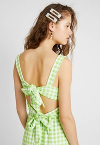 Warehouse - SHRIMPS GINGHAM DRESS - Maxi dress - green - 5