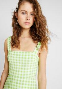Warehouse - SHRIMPS GINGHAM DRESS - Maxi dress - green - 3