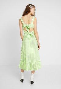 Warehouse - SHRIMPS GINGHAM DRESS - Maxi dress - green - 2