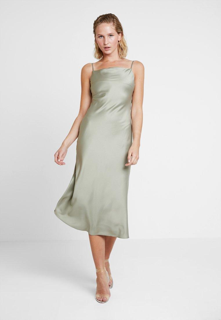 Warehouse - CAMI SLIP DRESS - Vestido informal - khaki