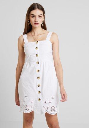 BRODERIE DRESS - Vestido informal - white