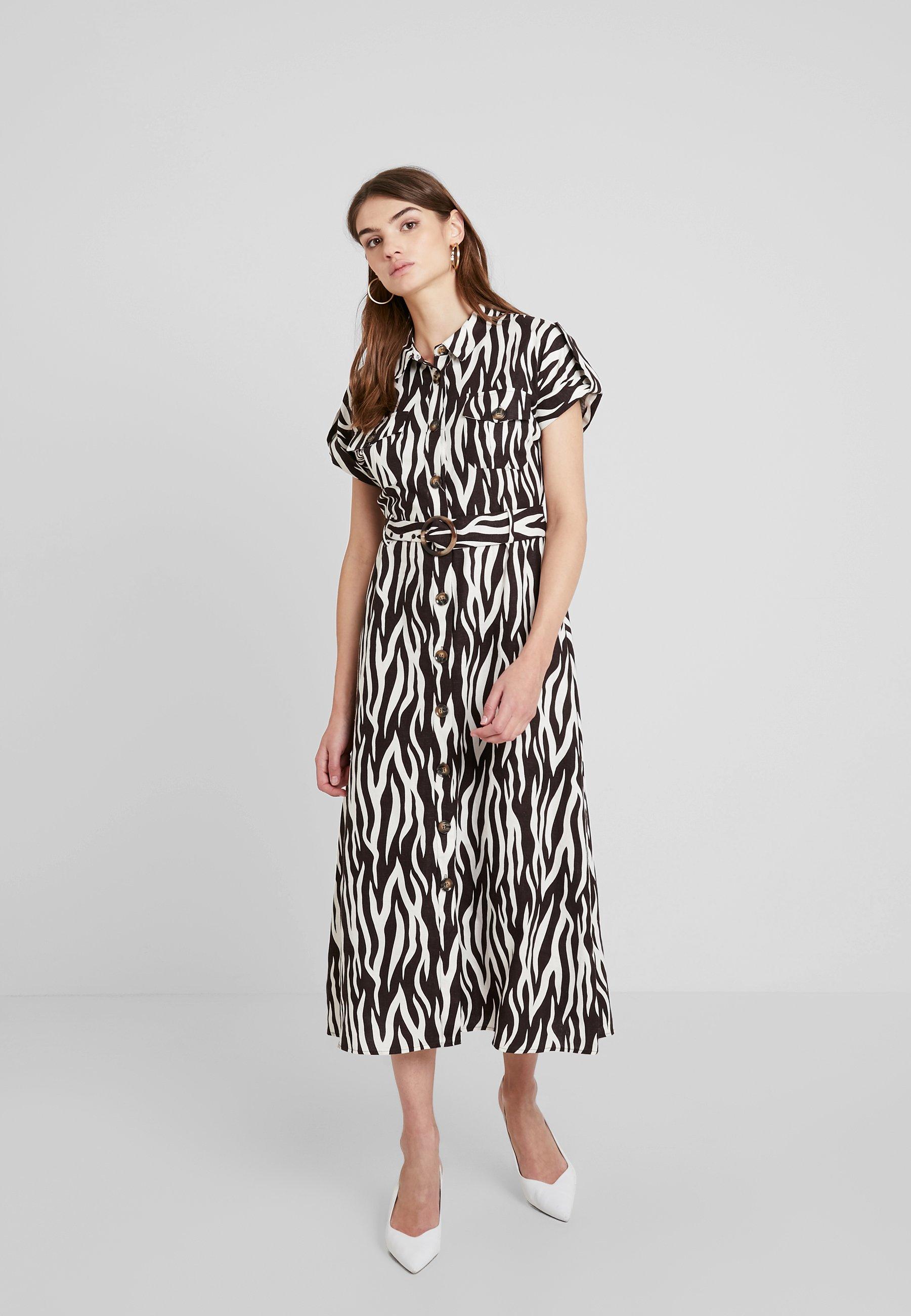 D'été Zebra Button Warehouse Front Multi DressRobe AR54jcLq3