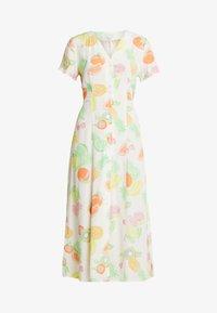 Warehouse - FRUIT SALAD MIDI DRESS - Skjortklänning - ivory - 4