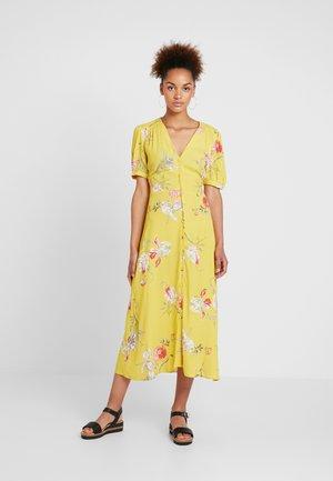 IRIS FLORAL TEA DRESS - Skjortklänning - yellow
