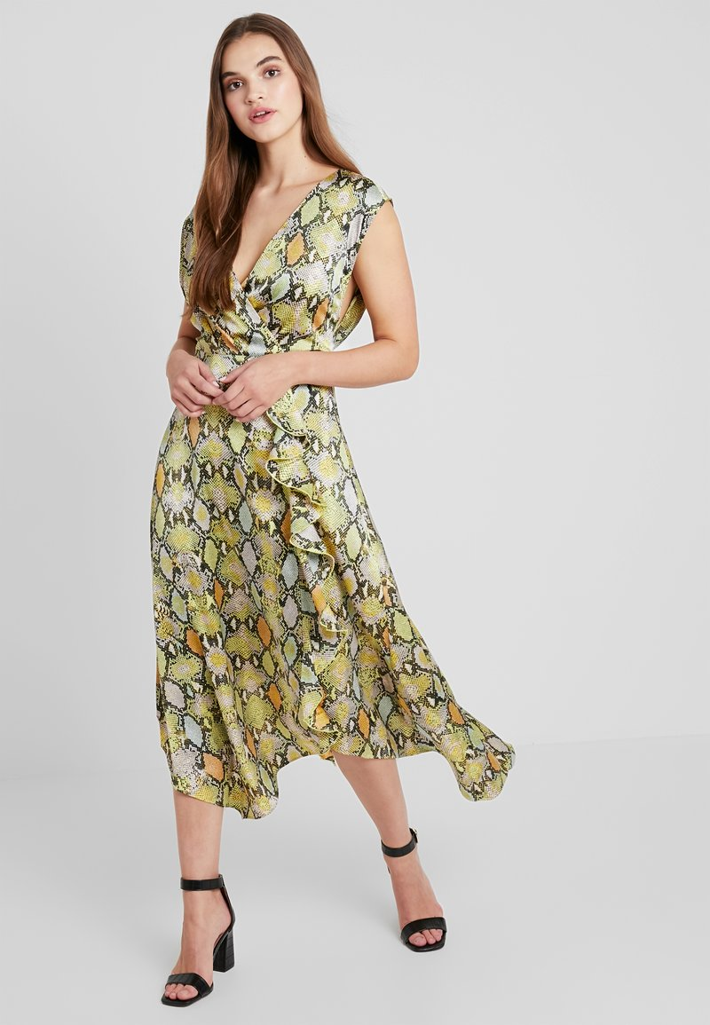 Warehouse - COWL BACK SNAKE PRINT DRESS - Cocktailklänning - multicolor