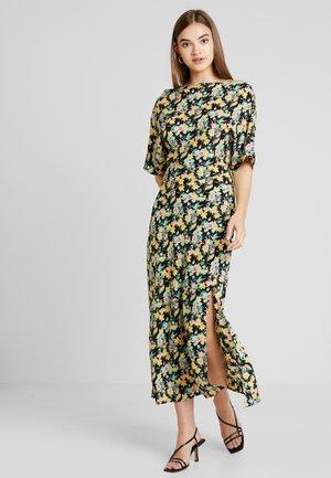 COWL FLORAL SPLIT DRESS - Maxi-jurk - multi
