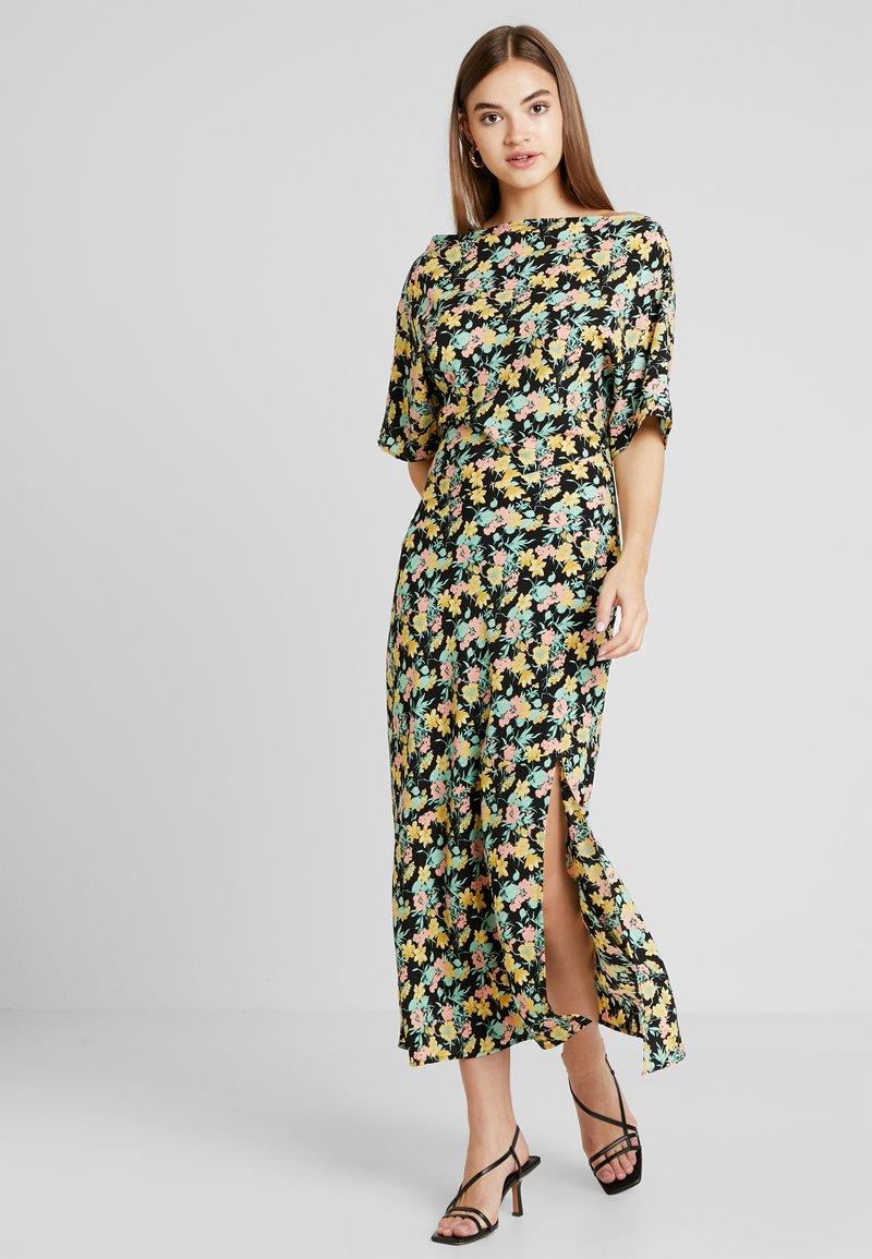Warehouse - COWL FLORAL SPLIT DRESS - Maxi dress - multi