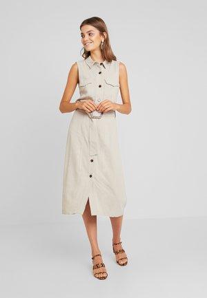BUCKLE DRESS - Korte jurk - stone
