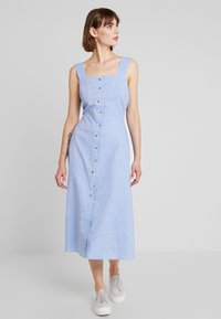 Warehouse - CHAMBRAY DRESS - Day dress - light blue - 0