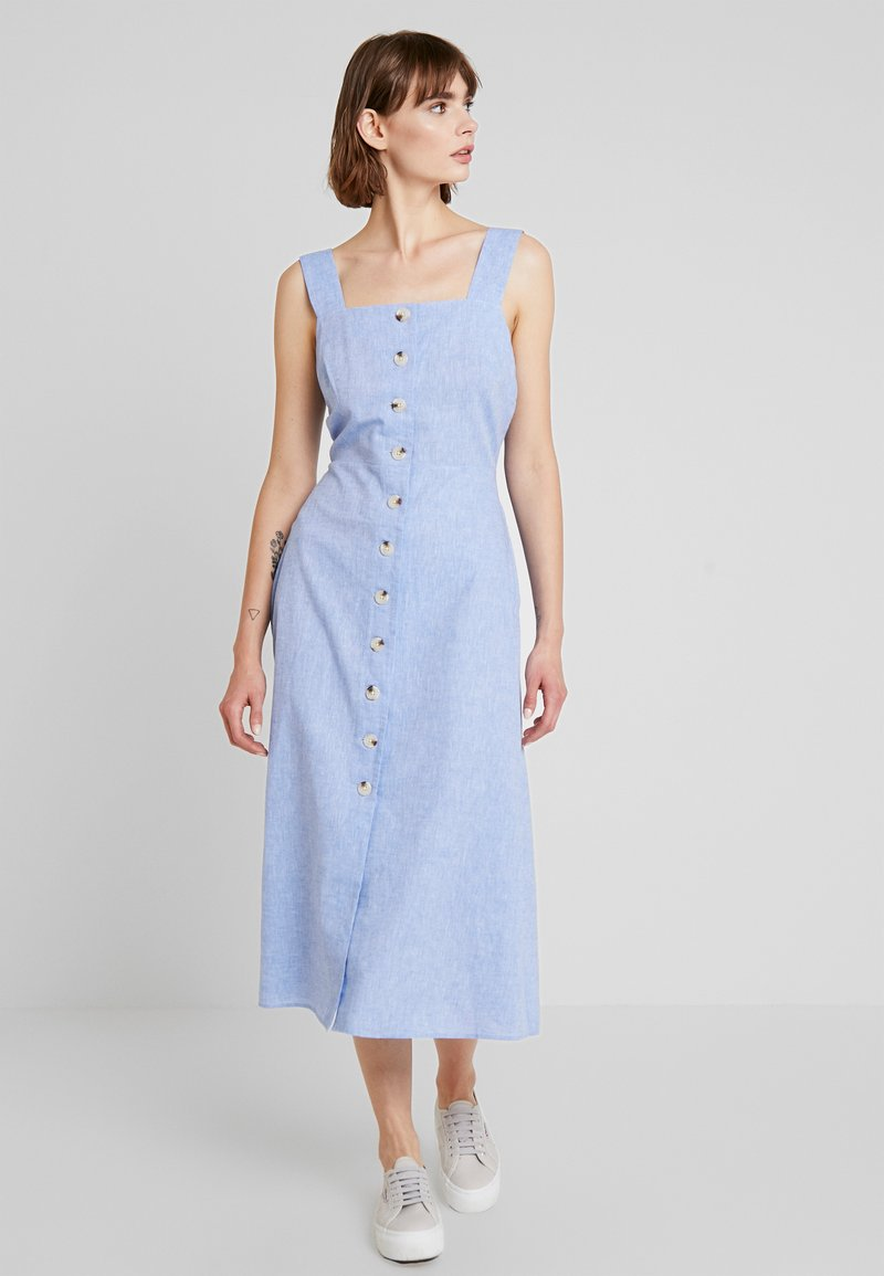 Warehouse - CHAMBRAY DRESS - Day dress - light blue