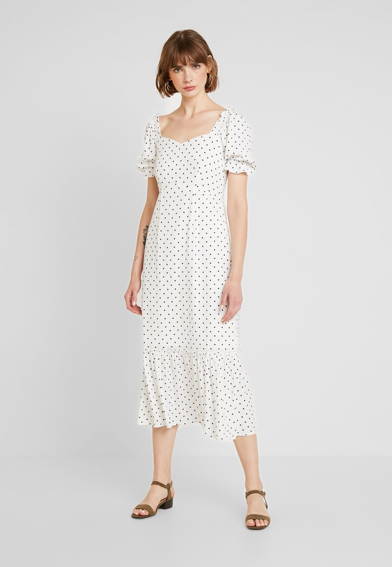 Warehouse - SPOT PRARIE DRESS - Day dress - ivory base