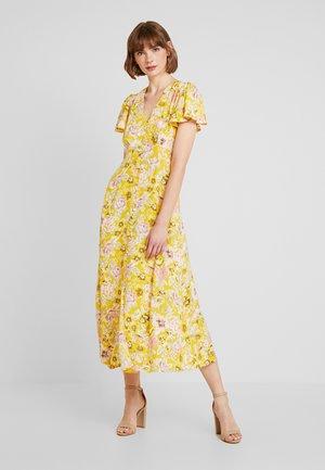 VINTAGE FLORAL TEA DRESS - Maxiklänning - yellow