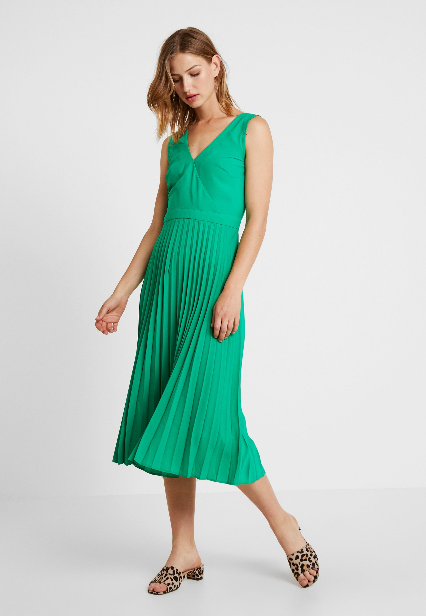 Warehouse Pleated DressRobe Green DressRobe Warehouse Pleated Longue BxeQoCWrdE
