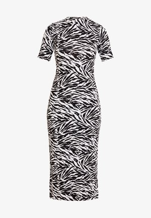 ZEBRA PRINT POP DRESS - Fodralklänning - black/white